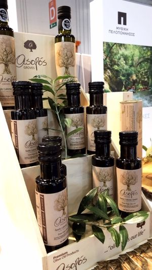 ASOPOS extra virgin olive oil 100ml bottle -(flow valve)  packaging carton box of 30 pcs