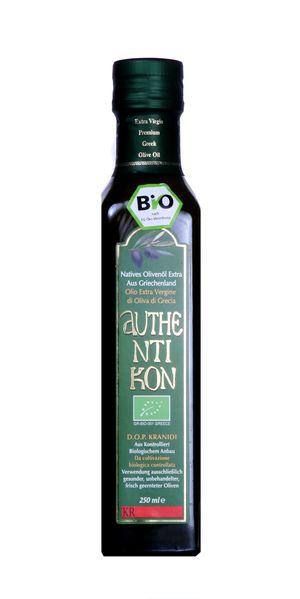 Organic Extra Virgin Olive Oil AUTHENTIKON 250ml Glass bottle