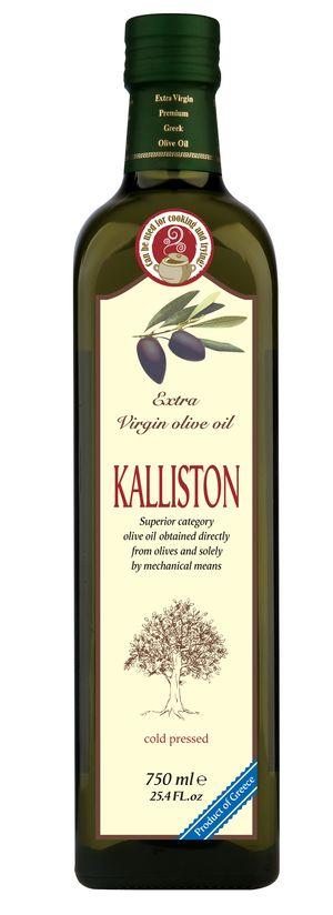 Authentic Greek Extra Virgin Olive Oil KALLISTON 750ml Glass bottle