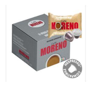 ΚΑΨΟΥΛΕΣ συμβατές nespresso* MORENO 100 CAPS 5 GR ποικιλία ESPRESSO BAR