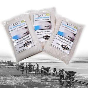 """Φυσικό, ανεπεξέργαστο, αλάτι από την λιμνοθάλασσα Μεσολογγίου  500 γρ . Συσκευασία 24 τεμαχίων""""  ΧΟΝΤΡΟ  σε σακουλάκι"""