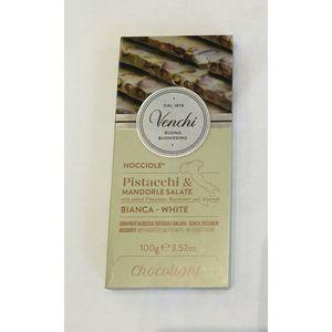 Σοκολάτα Venchi Bianca Nocciole-Pistacchi-Madorle Salate Chocolight 100g
