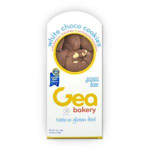 Μπισκότα κακάο και κομμάτια βελγικής λευκής σοκολάτας 100γρ(2 συσκευασίες των 50γρ)