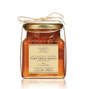 Navarino Icons Αγνό Ελληνικό Μέλι με Κηρήθρα  400g