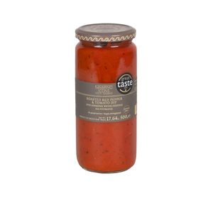 Navarino Icons Σαλτσα Ψητής Κόκκινης Πιπεριάς και Ντομάτας  500g - Συσκευασία 12 τεμάχια