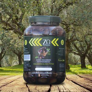 Ελιές ΖΩ Καλαμών Μαύρες εκπυρηνωμένες 1kg