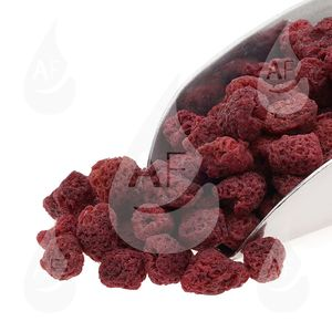 Raspberries οσμωτικά χωρίς ζάχαρη συσκευασία 150 gr