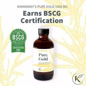 Pure Gold Oil Kannaway 30 ml - 2.000 mg Broad Spectrum CBD Oil (Έλαιο Φαρμακευτικής Κάνναβης)