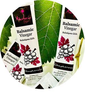 Ατομικές Μερίδες Ελαιολάδου Balsamic Vinegar  8 ml - Συσκευασία κιβωτίου 400 τεμαχίων