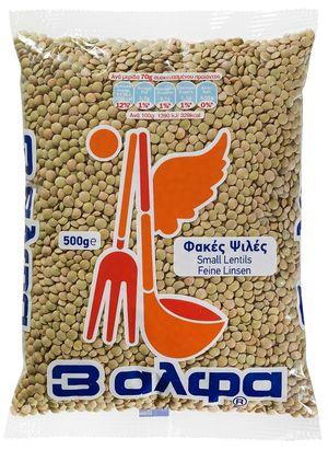 Φακές Ψιλές 5 κιλών 3Άλφα (1,33€/κιλό)