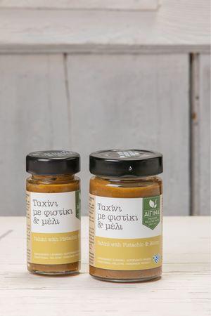 Ταχίνι με φιστίκι και μέλι σε βάζο 180gr